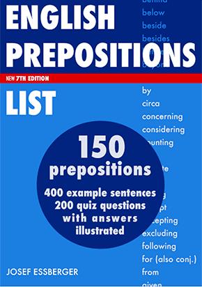 Prepositions List PDF