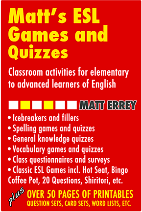 Matt's ESL Games and Quizzes book 1