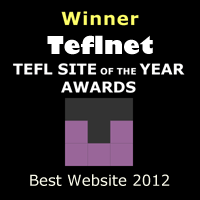 Winner - TEFL.net TEFL Site Of The Year Awards 2012