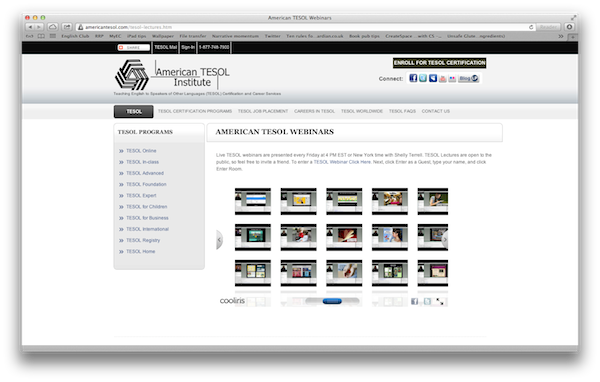 American TESOL webinars