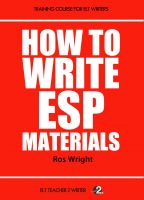 How to Write ESP Materials