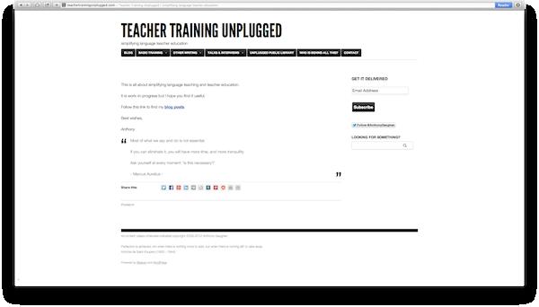 Teacher Training Unplugged