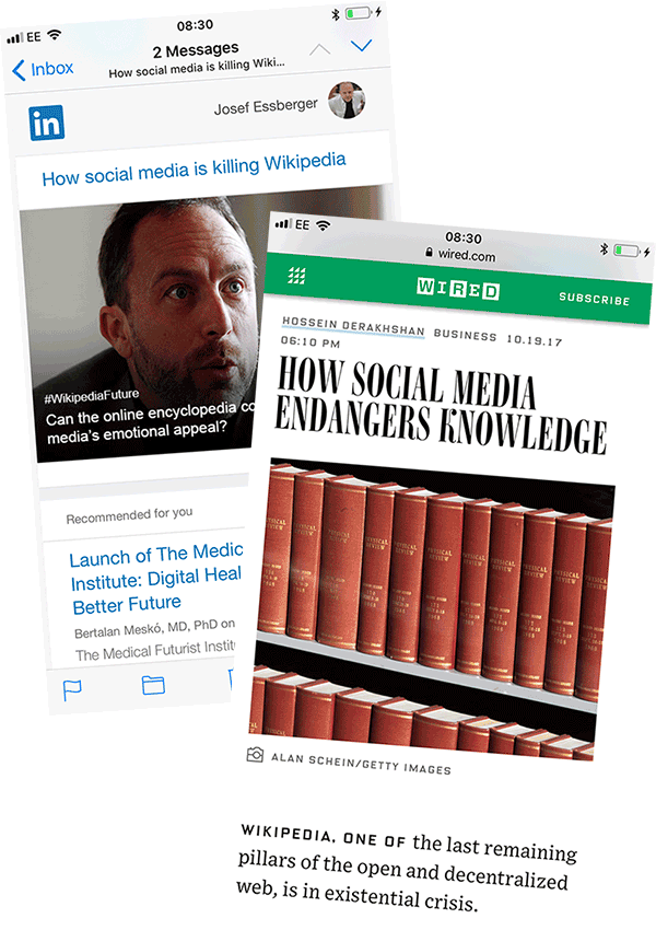 social media endangers knowledge