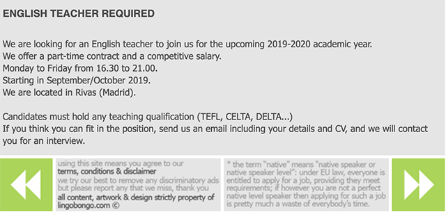 English Teacher Required